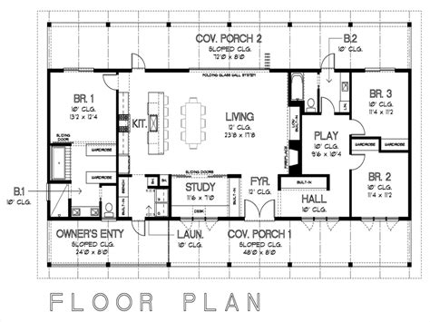 open house plan simple floor plans with measurements on floor with house