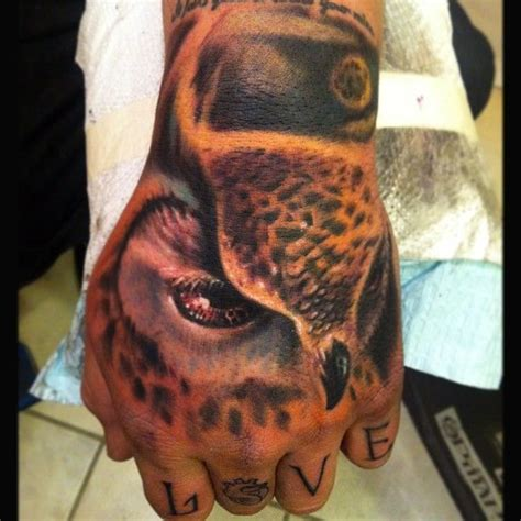 owl tattoo on hand 11 best johnny smith hand tattoos images on pinterest
