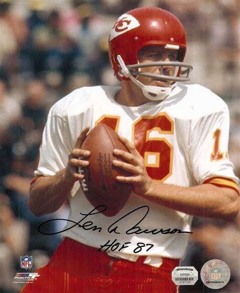 Mizzou Home Decor by Len Dawson Autographed Kansas City Chiefs Quarterbacks