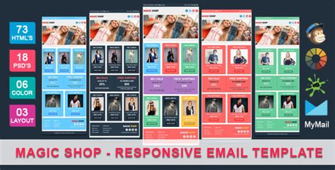 ecommerce email template magic shop responsive ecommerce email template themeforest