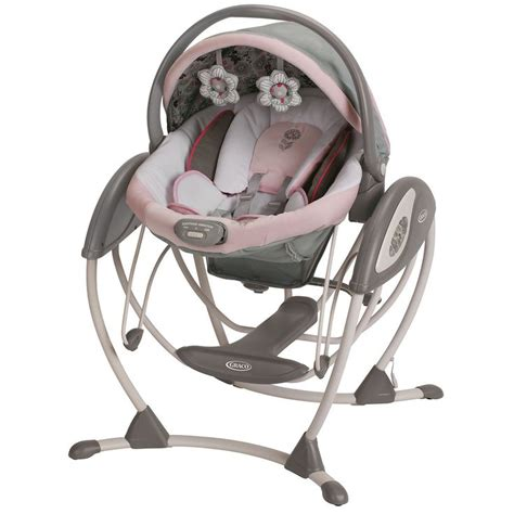 minnie mouse baby swing graco glider elite swing in minnies garden overstock