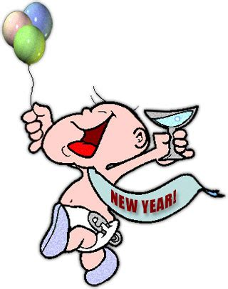 happy new year artwork to do with baby footprint free new year clipart graphics