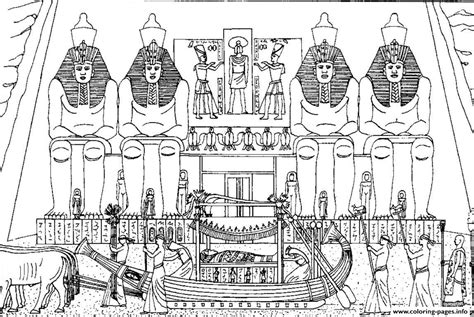 coloring pages for adults architecture adult egypt funeral of a pharaoh coloring pages printable