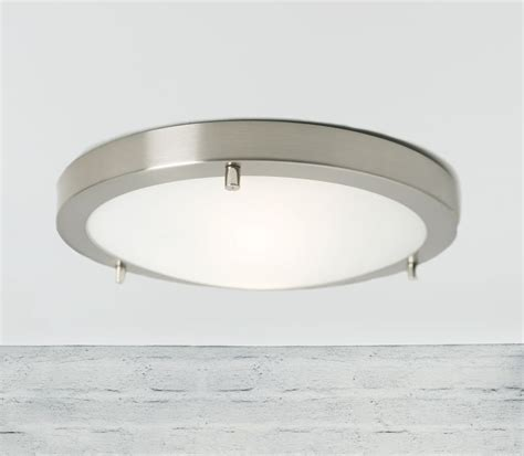 Brushed Steel Ceiling Lights Nordlux Ancona Maxi Led Ceiling Light Brushed Steel