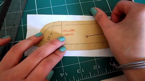 Pattern Cutting Video Tutorial | pattern cutting tutorial how to check alter shirt collar