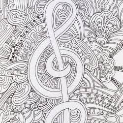 Musical page from color me happy part of the zen coloring book
