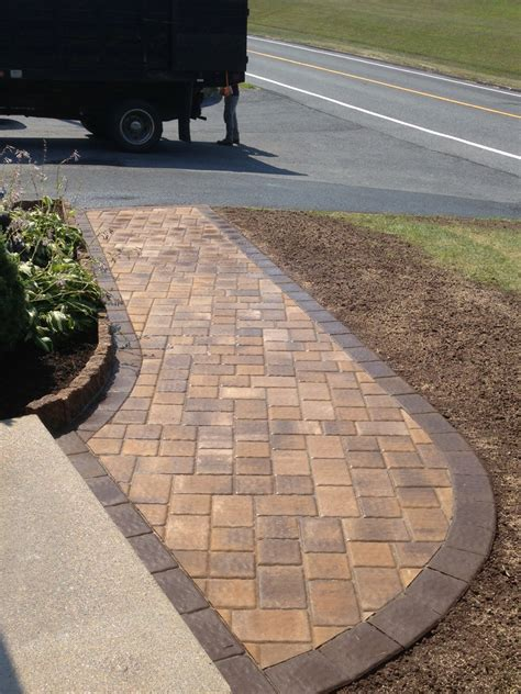 paver walkway by castle s creative landscaping pavers