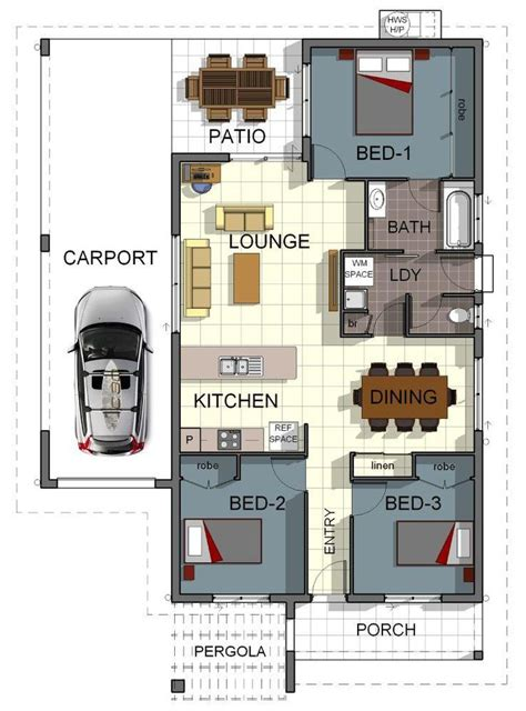 gradyhomes townsville 3 bedroom this works small house floor plan design 3 bedrooms with single garage