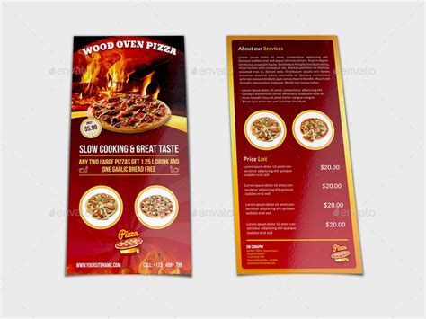 Pizza Restaurant Flyer Dl Size Template By Owpictures Graphicriver Dl Size Flyer Template