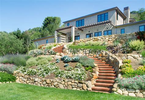 landscape house house on the hill mediterranean landscape santa barbara by calvin design