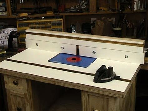 router table top  fence youtube