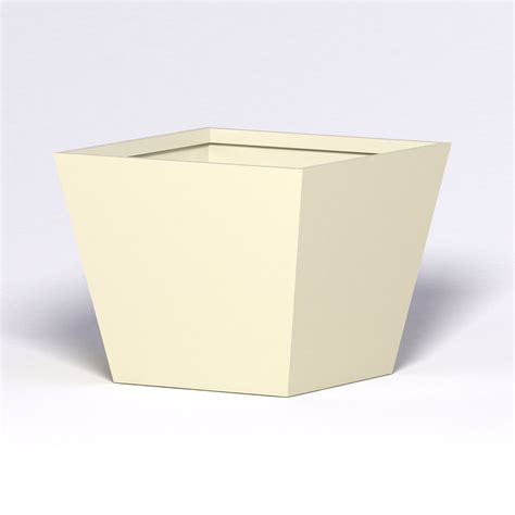 modern tapered fiberglass commercial planter 60in l x 60in
