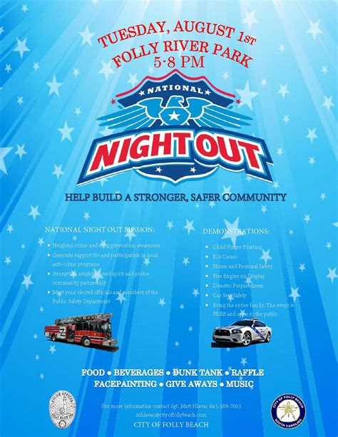 national night out flyers related keywords national