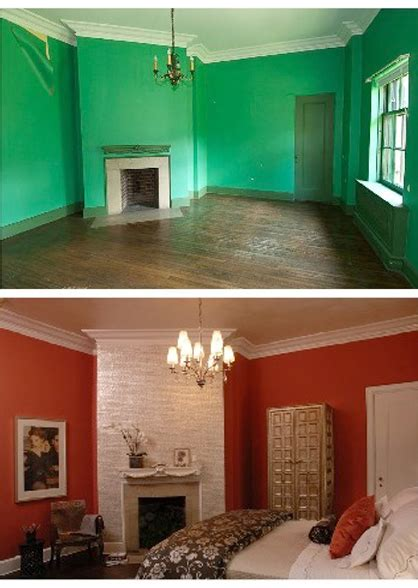 before and after decorating before and after interior green room to red room