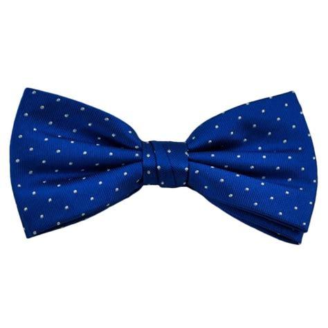 Polka Dot Bow Tie royal blue white polka dot silk bow tie from ties planet uk