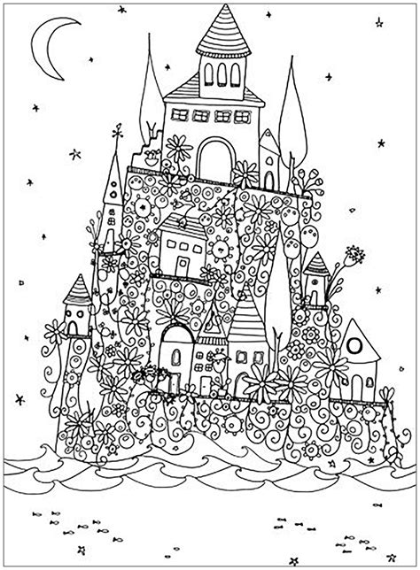 coloring castle mandala pages castle architecture and living coloring pages