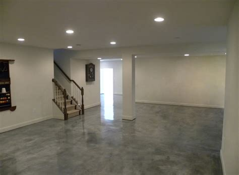 concrete color option basement ideas
