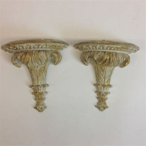 Wall Corbels Pair Of Italian Carved Wood Wall Brackets Corbels W Ivory