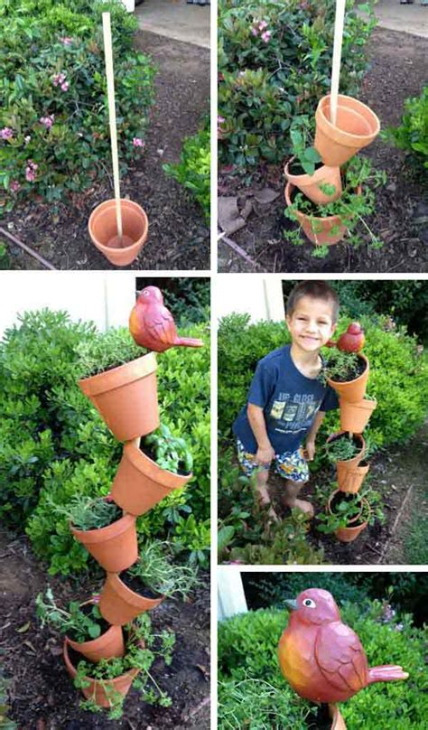 Diy Herb Garden Planter by Top 15 Low Budget Upcycled Diy Garden Planters Beesdiy