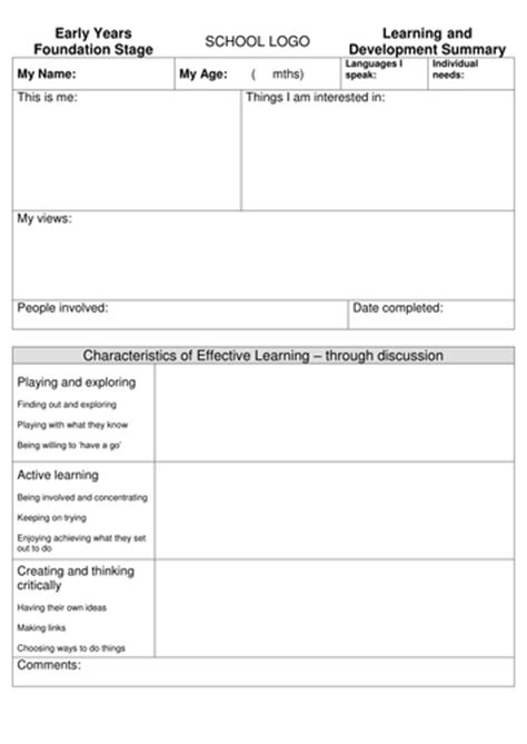 end of year report template primary school reception end of year report format by lounqt teaching