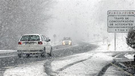video coche puerto de la cadena murcia la nieve cierra tres puertos en burgos y le 243 n