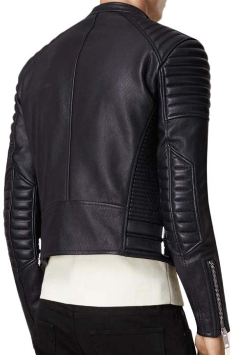 padded motorcycle jacket men s asymmetrical zip black leather padded motorcycle jacket