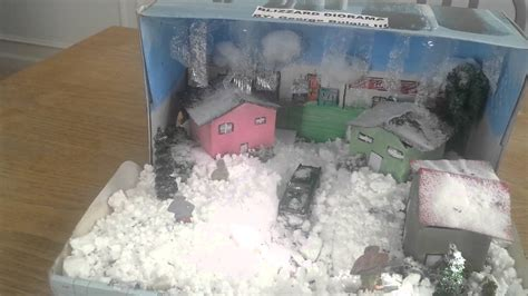 For Projects winter blizzard diorama