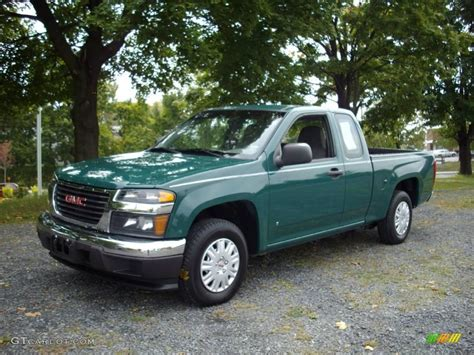 2006 woodland green gmc work truck extended cab
