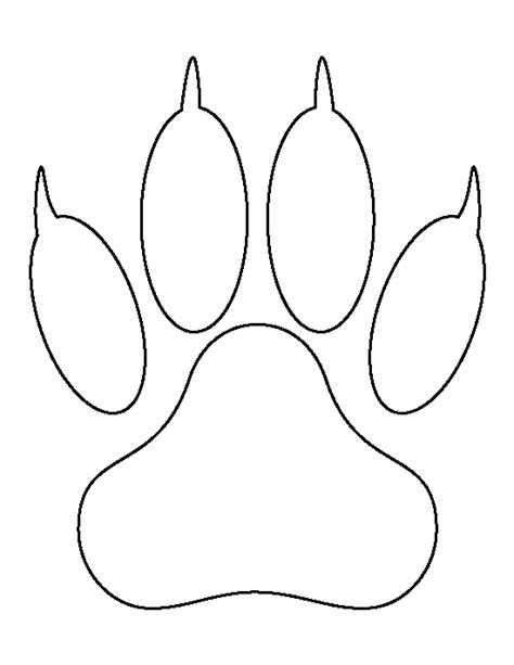 lion paw print pattern use the printable outline for
