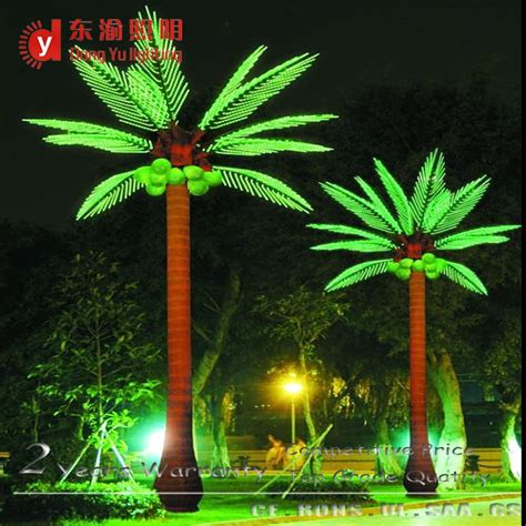 solar led outdoor lanscape light up artificial coconut