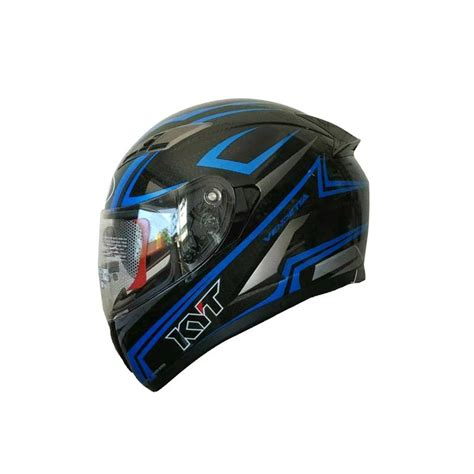 Helm Kyt Carbon jual kyt vendetta 2 carbon helm black blue harga kualitas terjamin