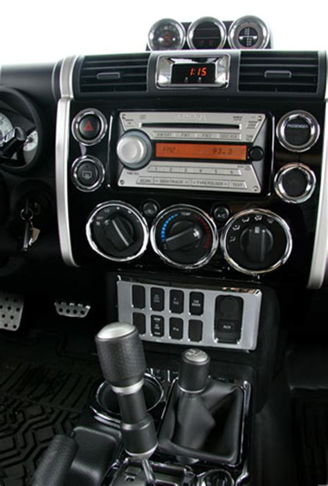 interior accessories putco toyota fj cruiser 34 pc interior chrome kit autotrucktoys