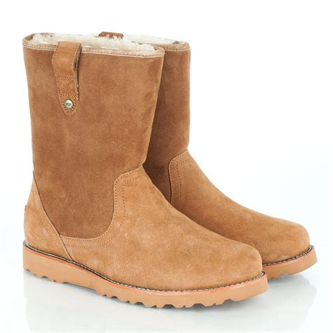ugg r chestnut stoneman s sheepskin boot