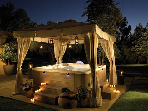 hot tub awnings hot tub w canopy hot tubs pinterest