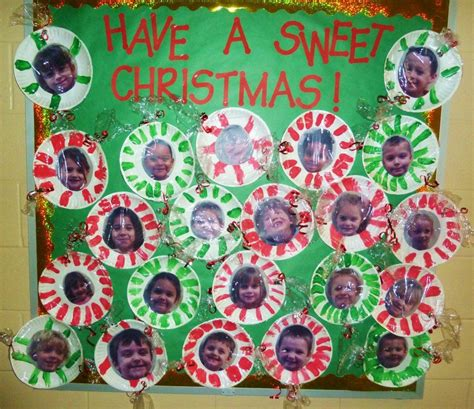 merry christmas class decoration a sweet classroom bulletin board peppermints made out of pictures and paper