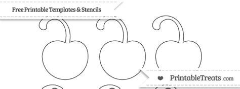 cherry template printable free printable small cherry with curled stem template