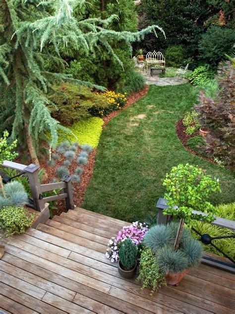 simple backyard landscape ideas easy landscaping ideas better homes gardens