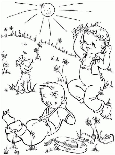 coloring pages spring pdf printable free spring season coloring sheets for kids