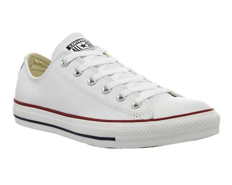 Converse All Low White womens converse all low leather optical white trainers shoes ebay