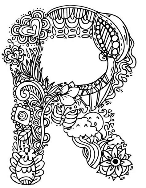 doodle colored name alphabet quot r quot doodle elephant bell drawings