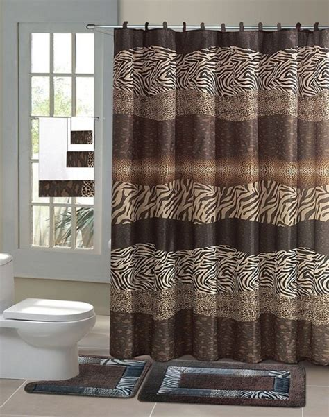 Unique Bath Dcor Rugs Mats Shower Curtains Rods Bathroom Accessory Sets With Shower Curtain