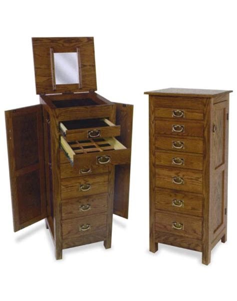 amish oak jewelry armoire 48 quot amish flush mission jewelry armoire amish bedroom