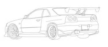 gtr coloring pages nissan skyline gtr r34 free coloring pages