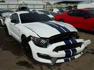 wrecked new car ford mustang shelby gt350 already appears at salvage auction