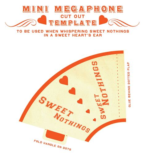 How To Make A Paper Megaphone - diy project sweet nothings mini megaphone design sponge