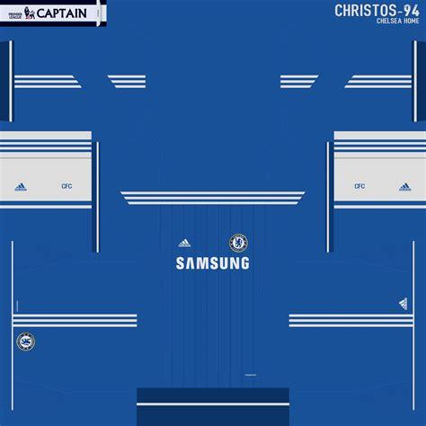 desain keren kit jersey pes2013 pes2014 chelsea home kit by christos 94 pes patch