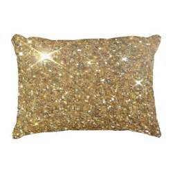 luxury gold glitter printed image decorative pillow zazzle