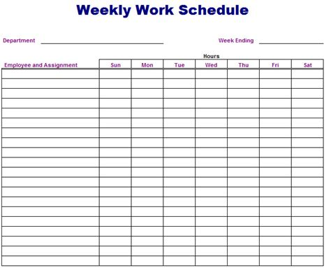 reporting schedule template production schedule template in excel