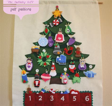 christmas tree advent calendar pattern 29 ornaments