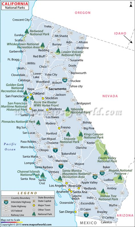 california map of national parks buy california national parks map